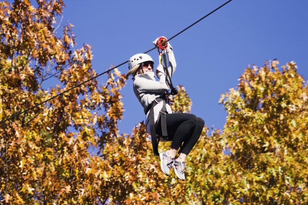 Lady Zipliner fall colors